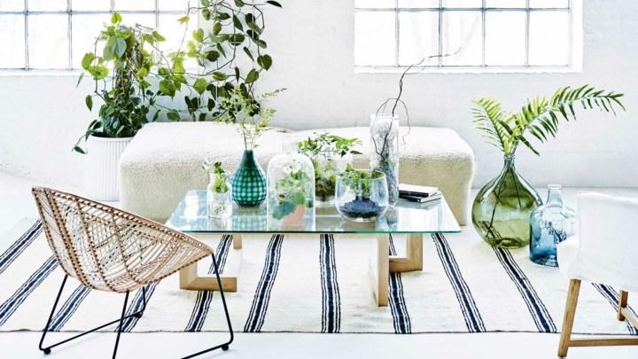 salones macetas estilo lineas verdes