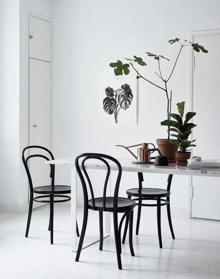 sillas comedor color conjunto negro