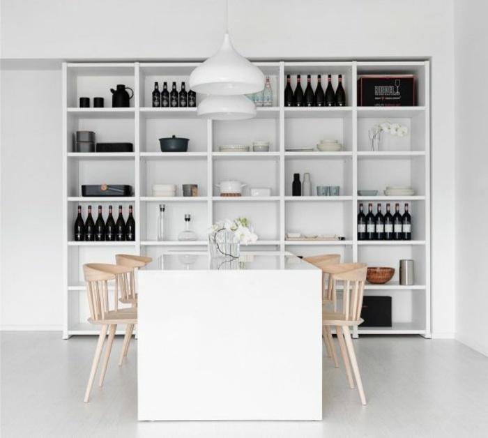 sillas comedor madera mesa blanca