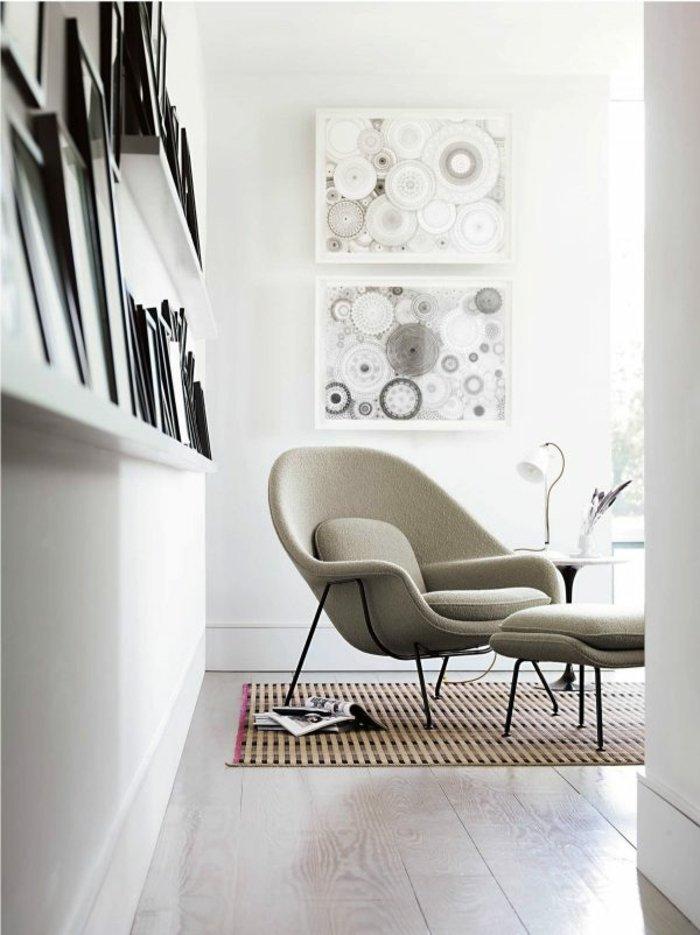 sillon color gris acolchado