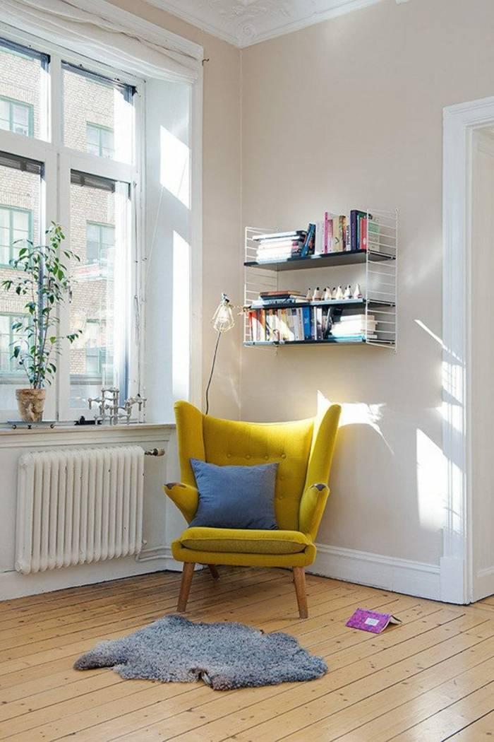 sillon escandinavo color amarillo