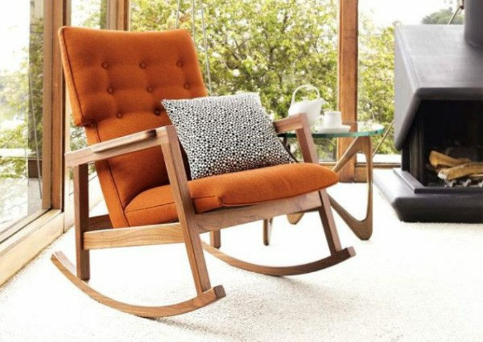 sillón mecedora tapizado narqanja