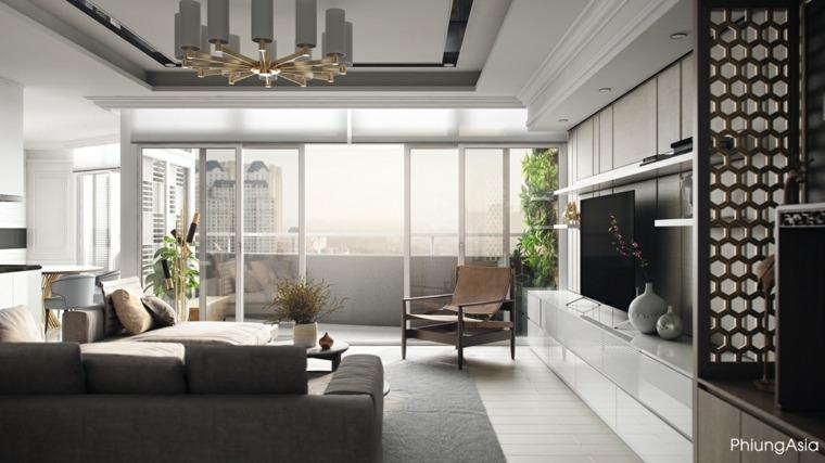 sofa separadores espacios modernos balcones