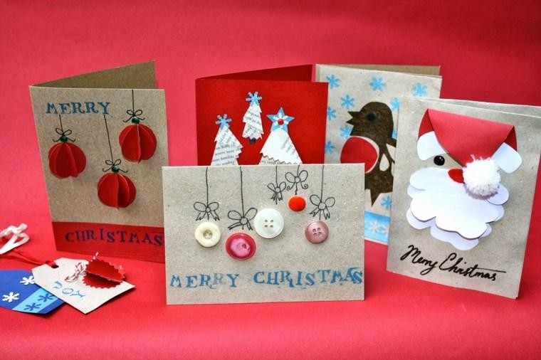 Tarjetas De Navidad Manualidades Para Casa - Tarjetas-navideas-manualidades