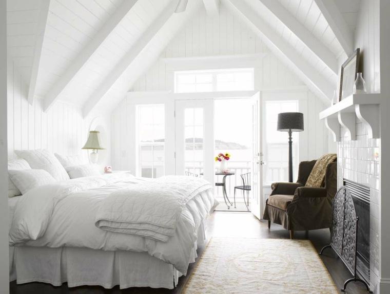 techo abovedado dormitorio clasico blanco ideas
