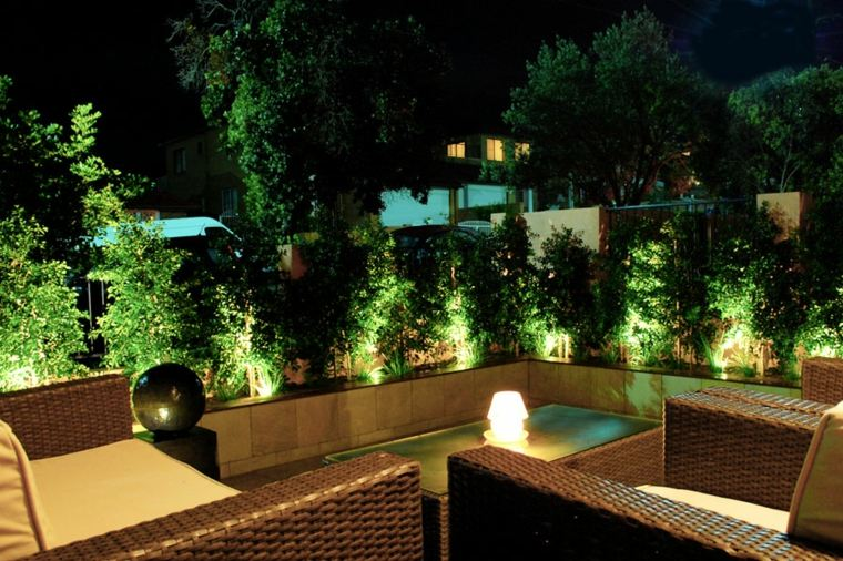 terraza moderna luces Led