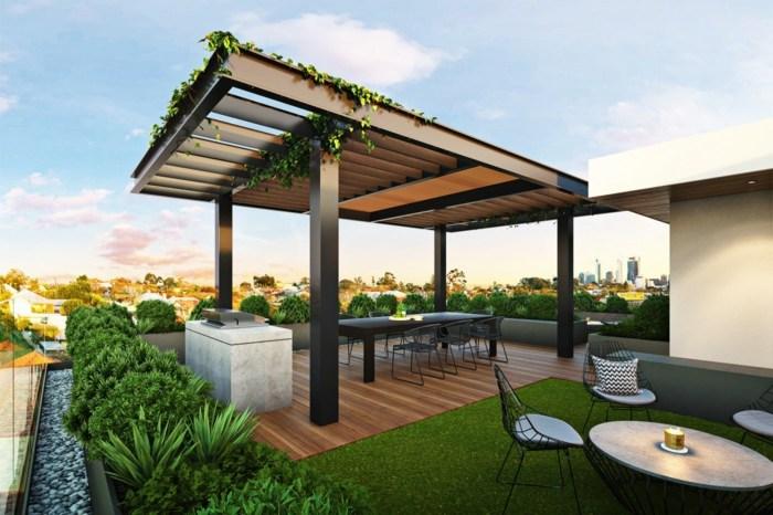 terrazas con encanto comedor metal ideas