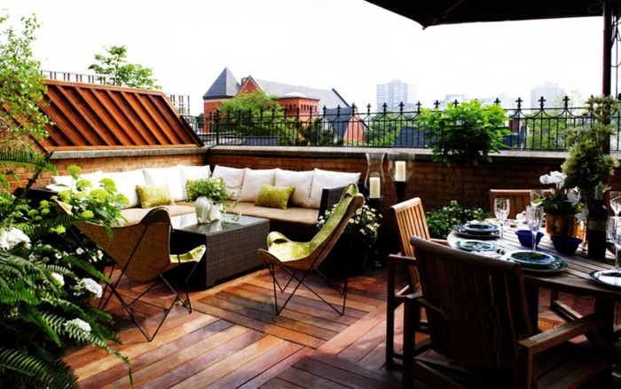 terrazas con encanto zona comedor materiales