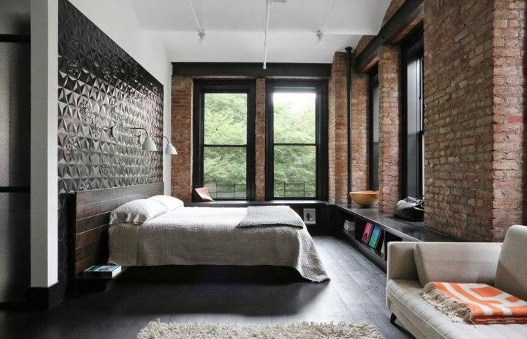 texturas cama paredes muebles orden