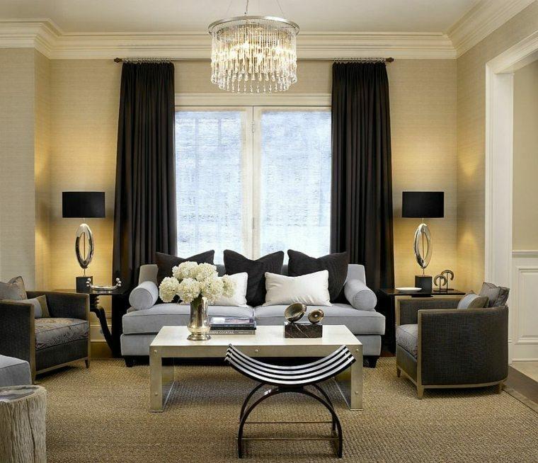 Tipos de cortinas soluciones originales para la ventana - Cortinas en blanco y negro ...