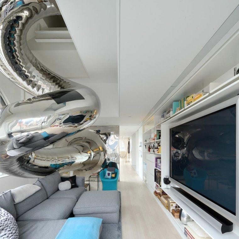 toboganes interior casa diseno moderno brillante ideas