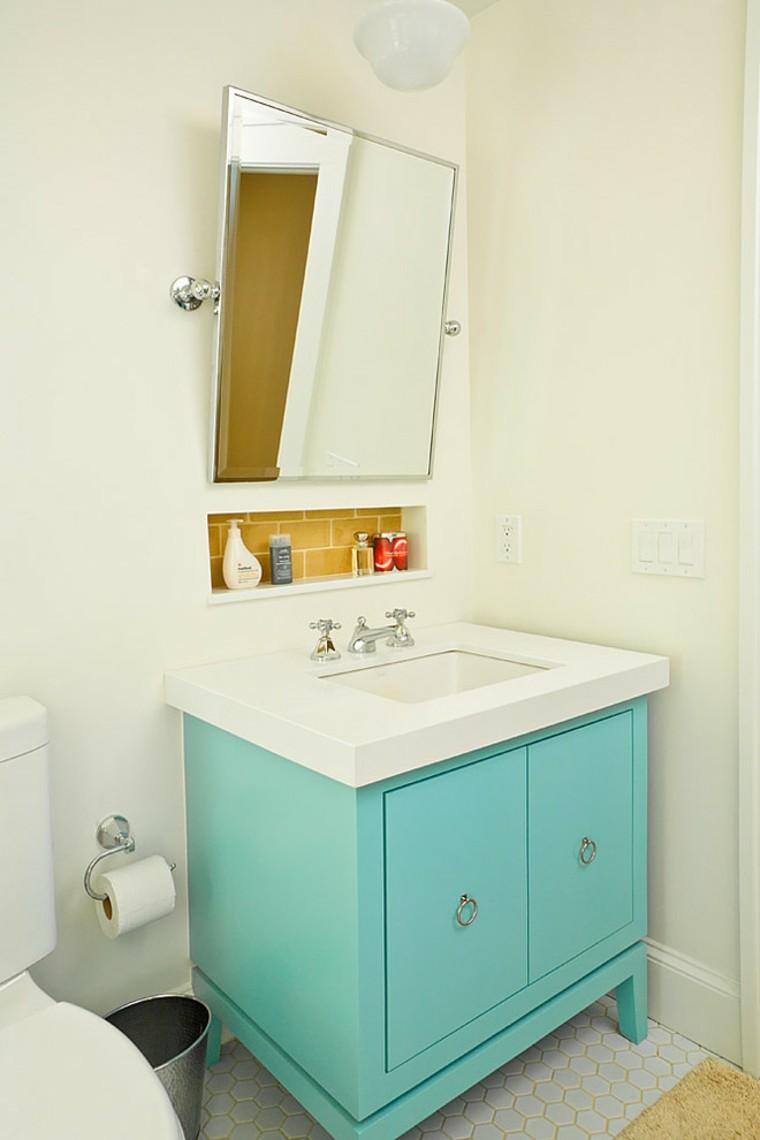 tocador baño estilo retro