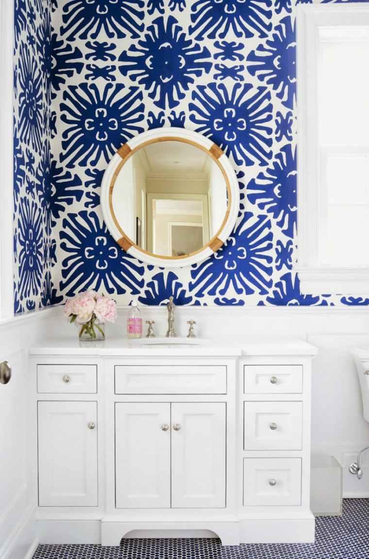 tocadores flores conceptos imagenes azules