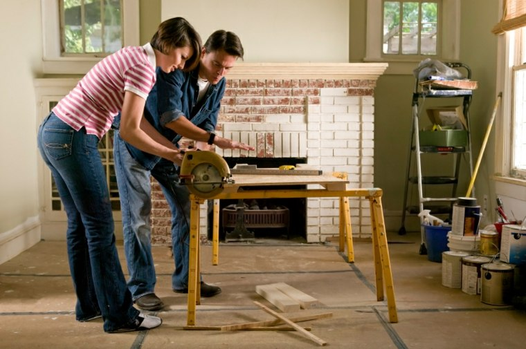trabajar en la remodelacion hogar