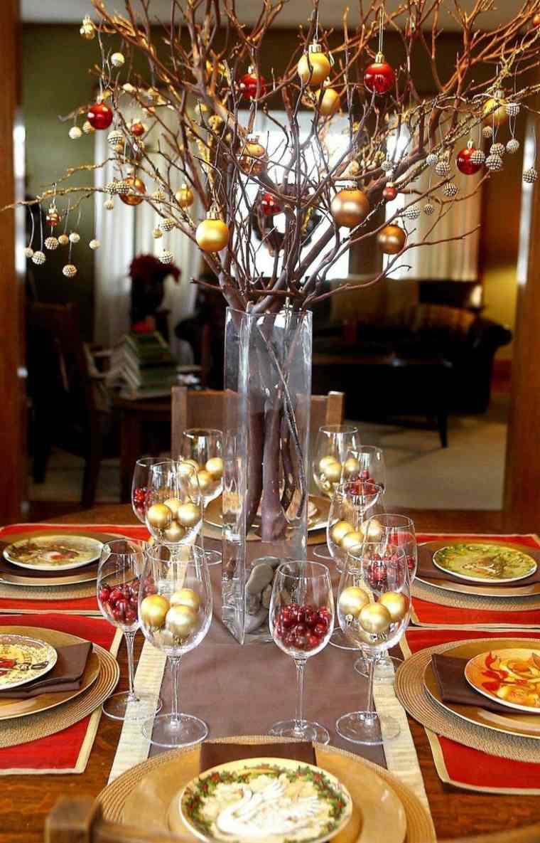 decoracion mesa navidad opciones estilo moderno
