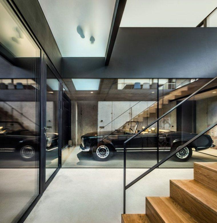 zona garaje coche estilo retro