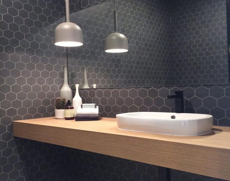 azulejos baño color gris