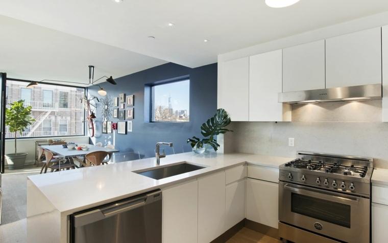 eisner design cocina barra opciones muebles blanco ideas