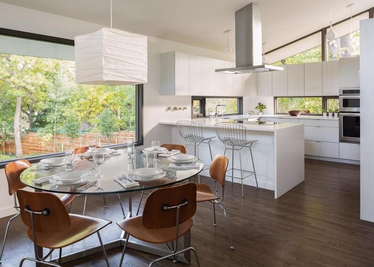 hmh architecture cocina blanca barra opciones ideas