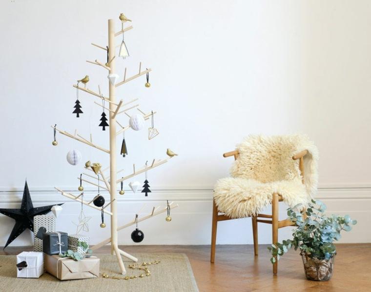 árboles navidad sencillo madera