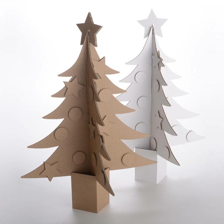 abetos navidad cartón reciclado
