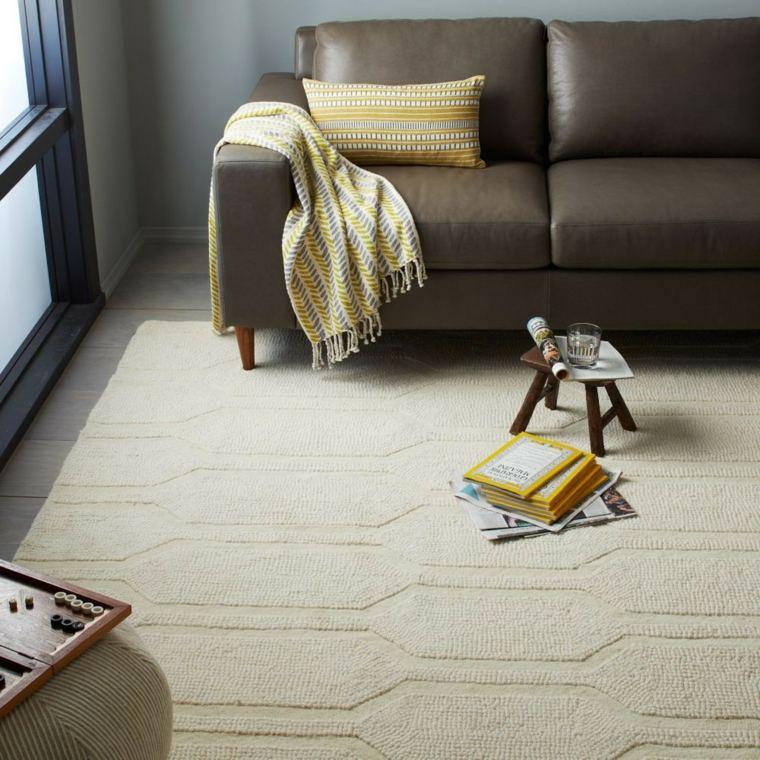 alfombra diseno simple hogar moderno ideas