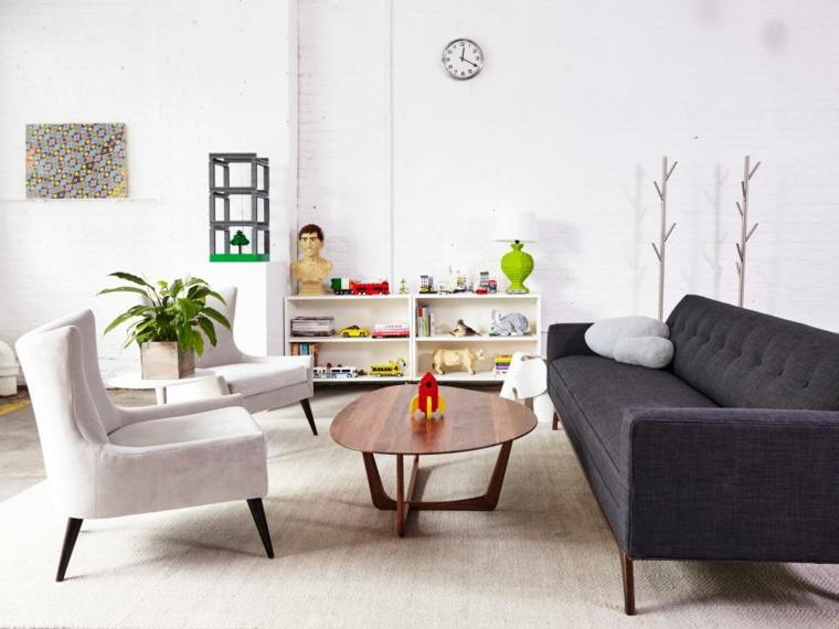 ambiente mobiliario retro comodo paredes