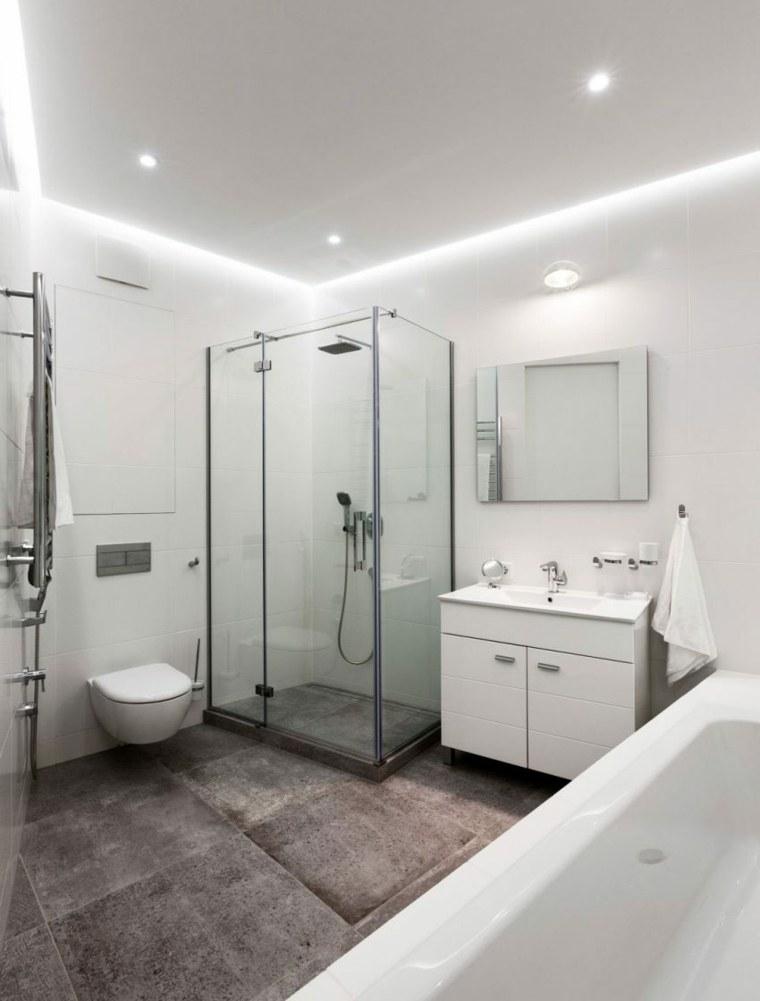 apartamento decoracion diseno minimalista bano blanco ideas