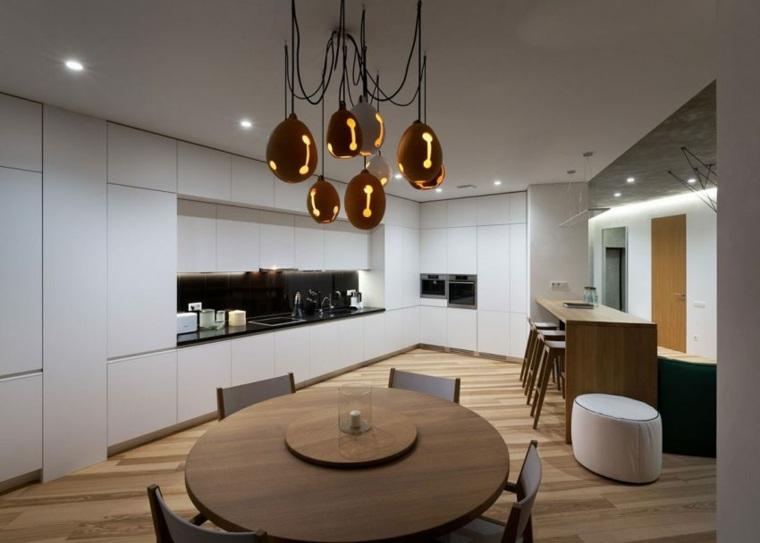 apartamento decoración diseno minimalista comedor cocina opciones ideas