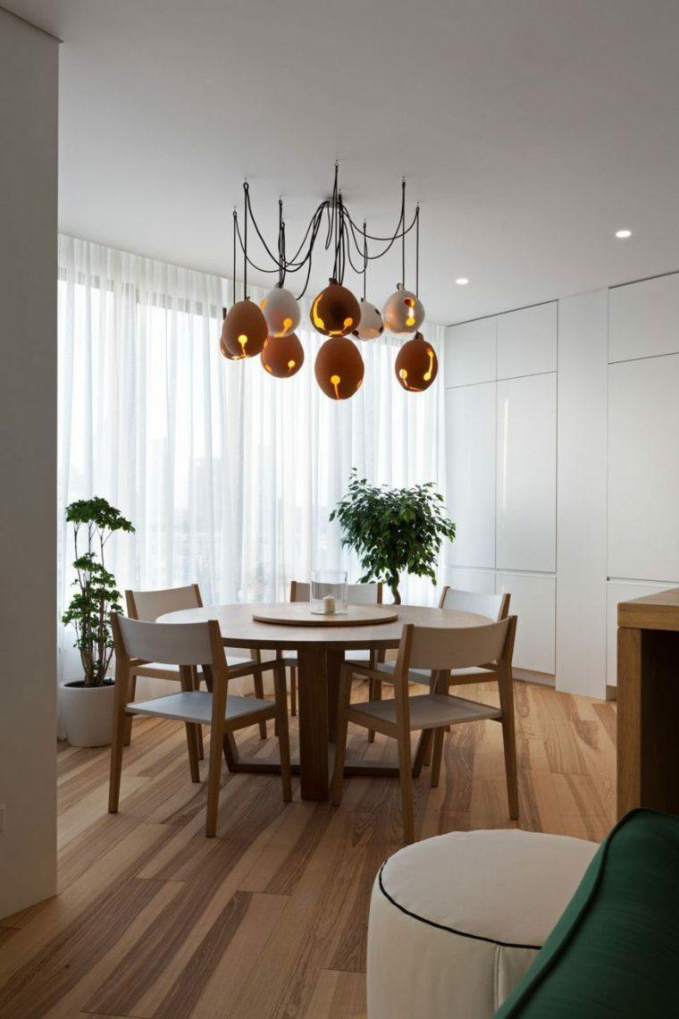 apartamento decoracion diseno minimalista comedor diseno moderno ideas