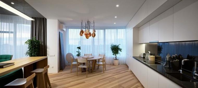 apartamento decoracion diseno minimalista comedor minimalista ideas