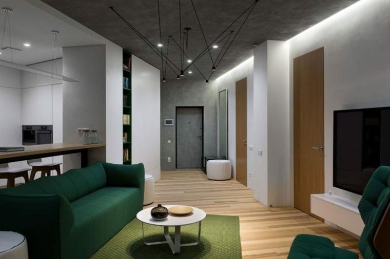 apartamento decoración diseno minimalista plano abierto ideas