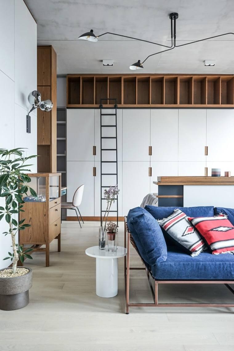 apartamentos espacio madera estantes escalera