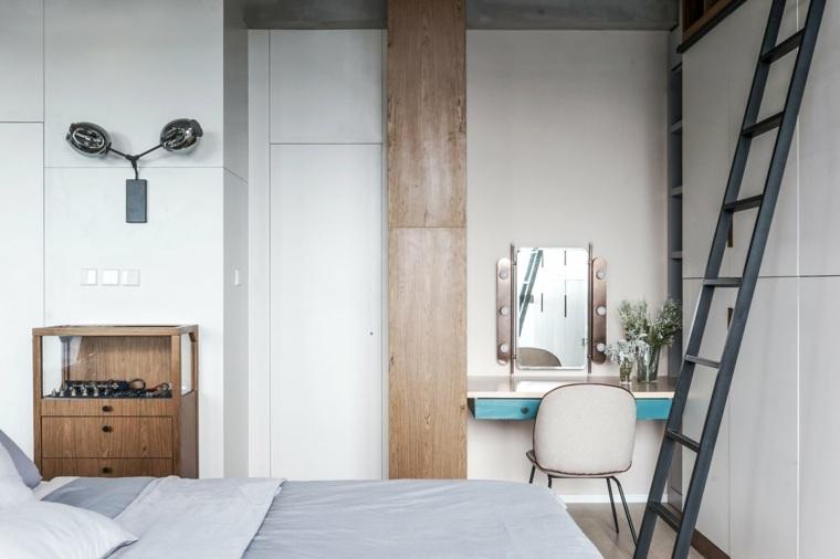 apartamentos espacio panel madera sillones