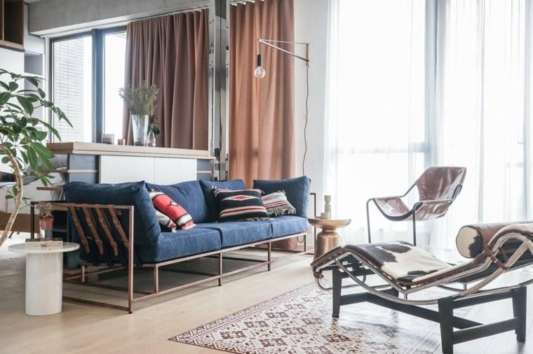 apartamentos espacio sillon cuero lamparas
