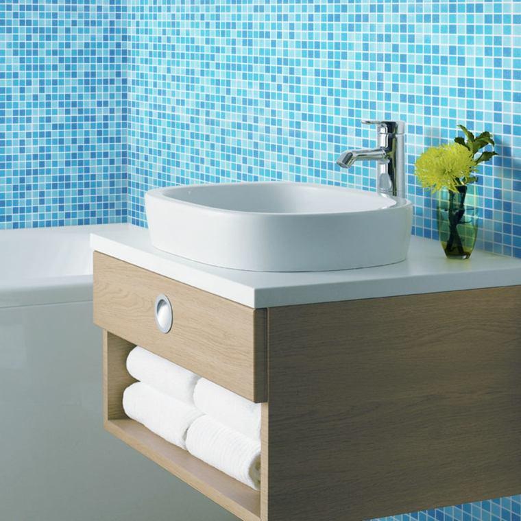 azul aguamarina decorar baño