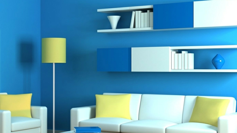azul aguamarina decorar intriores