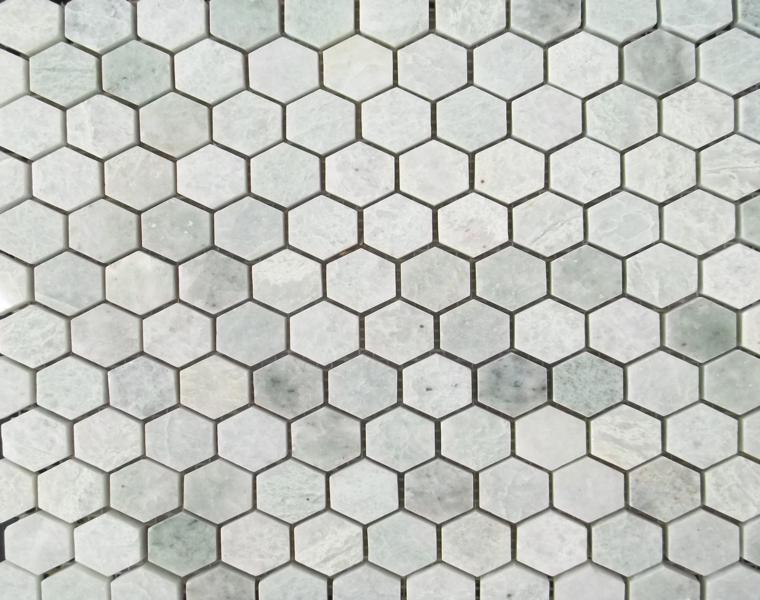 azulejos hexagonales diferentes tonos