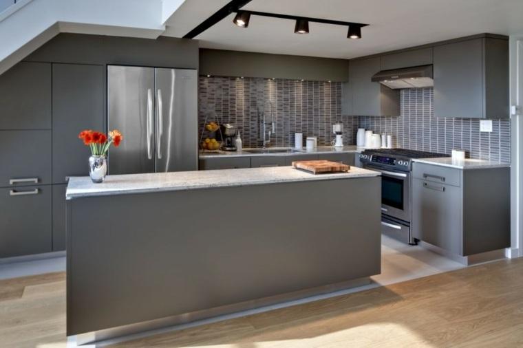 Dise os de salpicaderos de cocina modernos 34 ideas - Azulejos cocina moderna ...