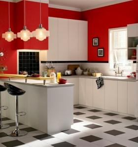 Forma cocinas 50 dise os de cocinas en l - Azulejos de cocina pintados ...