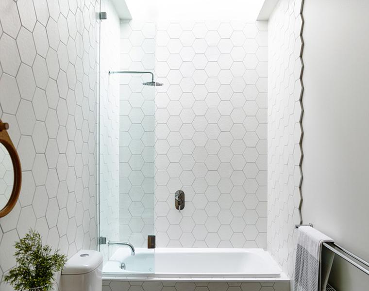 azulejos hexagonales color blanco
