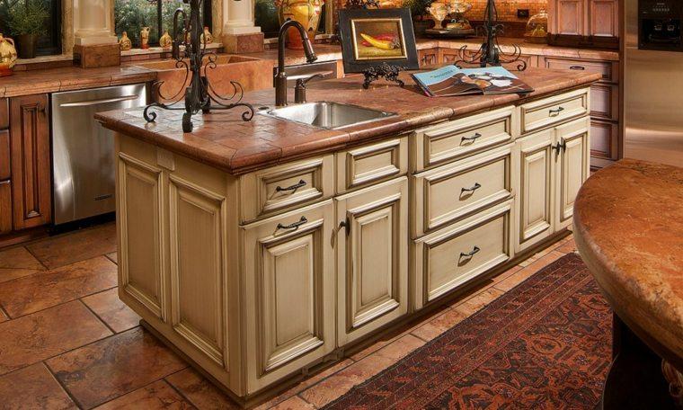 Azulejos r sticos para la decoraci n de los interiores for Azulejos para cocina 2016