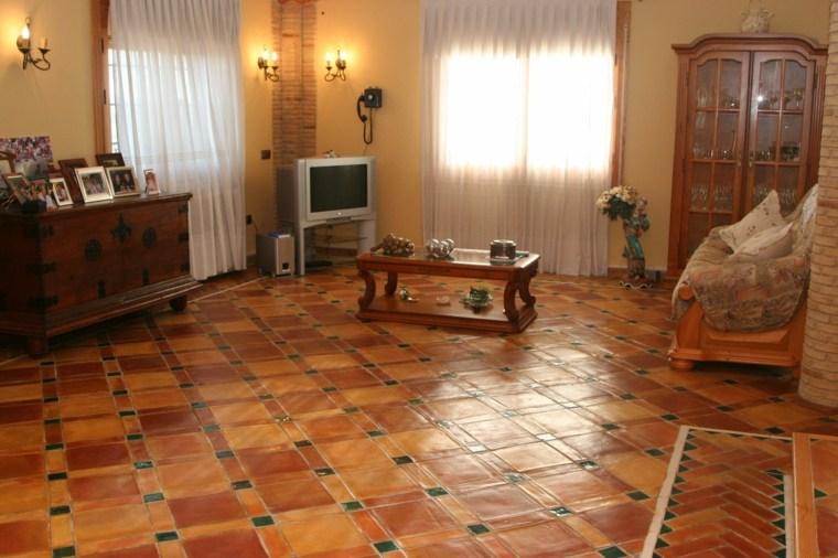 Azulejos r sticos para la decoraci n de los interiores for Azulejos para suelos