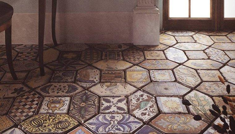 Azulejos r sticos para la decoraci n de los interiores - Azulejos suelo ...