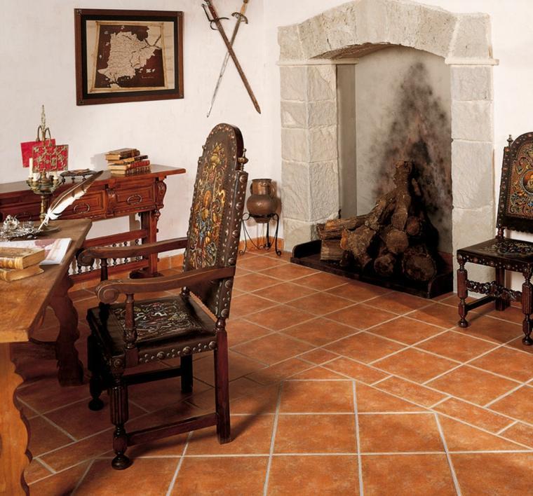 Azulejos r sticos para la decoraci n de los interiores for Azulejo para pared de sala