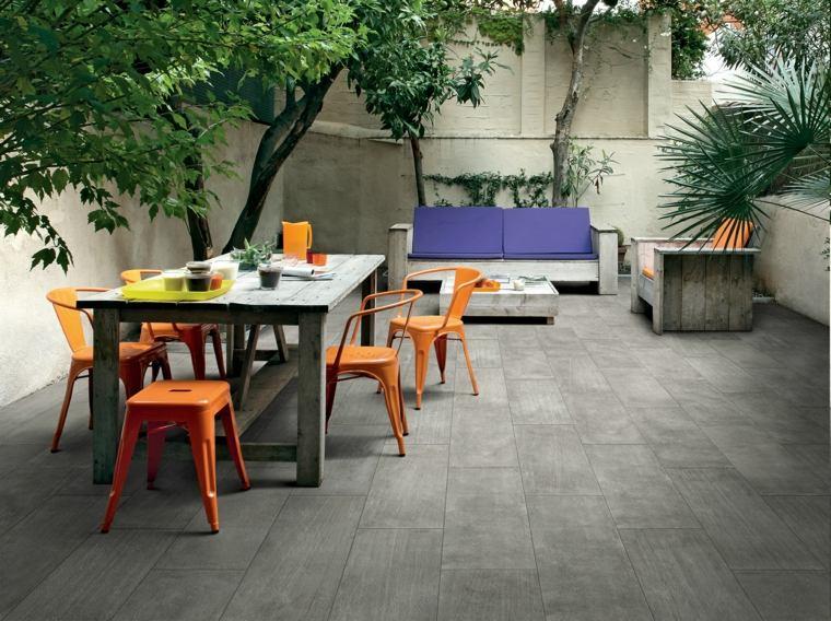 baldosas cemento color gris suelos de exterior