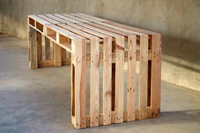 banco sencillo madera palet