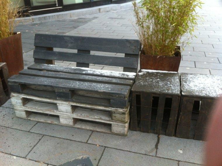 banco de madera palets