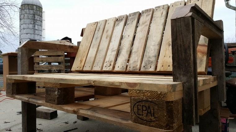 banco madera europalet recuiclado