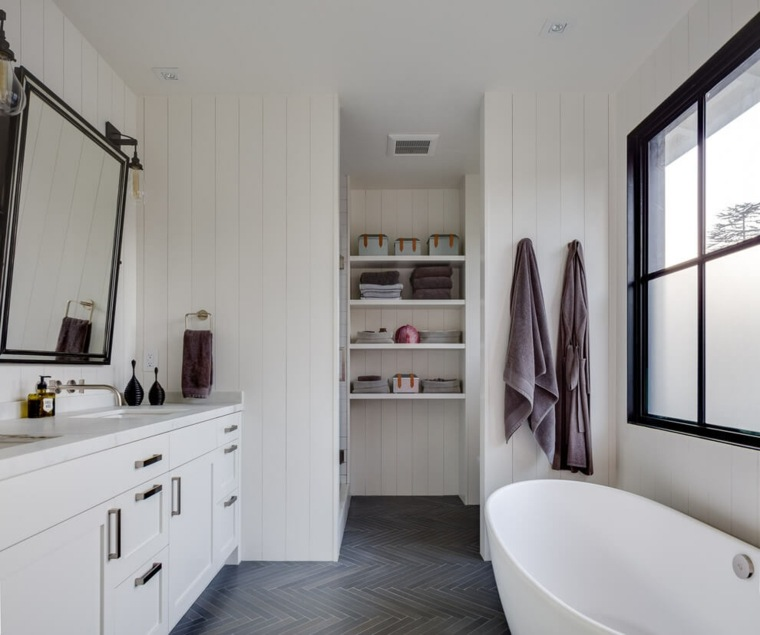 bano estilo moderno paredes blancas tineke triggs ideas